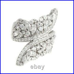 HSN Victoria Wieck Sterling Silver 3.28CT Cubic Zirconia Bypass Ring Size 7 $259