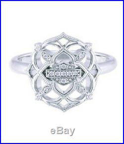 Harley-Davidson Women's Sterling Silver Iron Gate Cubic Zirconia Ring HDR0528