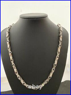 Heavy Sterling Silver Cubic Zirconia Chain. 28.5 inch