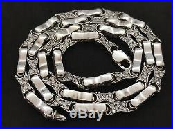 Heavy Sterling Silver Cubic Zirconia Chain. 28 inch