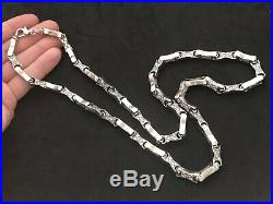 Heavy Sterling Silver Cubic Zirconia Chain. 30 inch