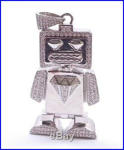 Icejewlz Iceman Pendant Clear Cubic Zirconia Large 925 Sterling Silver 58.5g