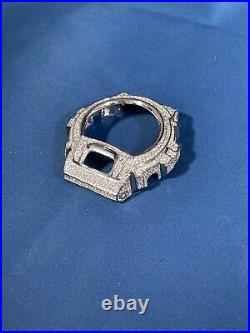 Icey G-Shock 925 Sterling Silver Case Cubic Zirconia Stones Iced Out White