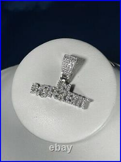 Im Different White Finish 925 Sterling Silver Pendant Cubic Zirconia Stones