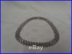 Impressive QVC Diamonique Cubic Zirconia Sterling Silver 18.5 Necklace 160g