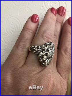 JAI for John Hardy Sterling Silver & Cubic Zirconia RING Hard To Find Size 8