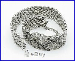 JUDITH JACK 925 Silver Cubic Zirconia & Marcasite Choker Necklace N2155