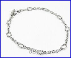 JUDITH RIPKA 925 Silver Cubic Zirconia Accented Twist Chain Necklace N2152