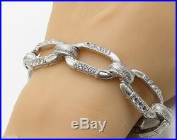 JUDITH RIPKA 925 Silver Vintage Paved Cubic Zirconia Tennis Bracelet B3360