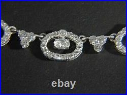 JUDITH RIPKA Glitzy CZ Cubic Zirconia 925 Sterling Silver NECKLACE
