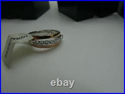 Job Lot 10 Sterling Silver & Cubic Zirconia Rings assorted sizes