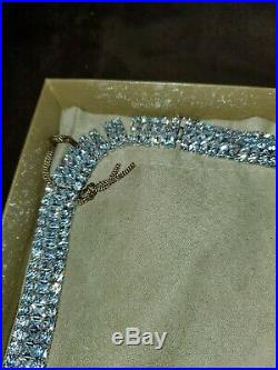 Jtv Cubic Zirconia Sterling Silver Necklace 208.50ctw