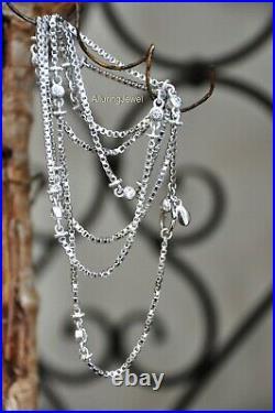 Judith Ripka 36 Sterling 925 Cubic Zirconia CZ Diamoniqu station BOX Chain MINT
