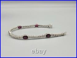 Judith Ripka. 925 Silver Rhodelite And DMQ Cubic Zirconia Tennis Bracelet 8