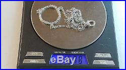 Judith Ripka 925 Sterling Silver CZ Round Open Circle Necklace Cubic Zirconia
