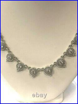 Judith Ripka 925 Sterling Silver Cubic Zirconia Necklace 19