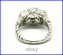 Judith Ripka 925 Sterling Silver Cubic Zirconia Ring Size 9