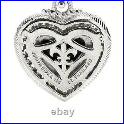 Judith Ripka Carved Onyx, Cubic Zirconia and Sterling Silver Heart Enhancer