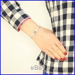 Judith Ripka Citrine & Cubic Zirconia Cuff Bracelet 6- Sterling Silver Halo CZs