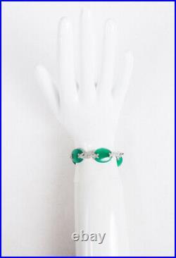 Judith Ripka Green Sterling Silver Cubic Zirconia Bracelet