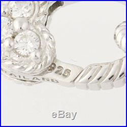 Judith Ripka Pave Cubic Zirconia Ball Necklace Sterling Silver Adjustable