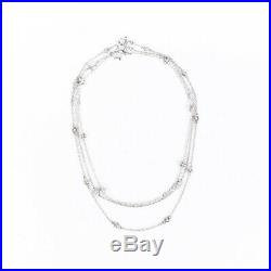 Judith Ripka Set of 3 Sterling Silver Cubic Zirconia Necklaces