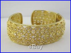 Judith Ripka Sterling Silver And Cubic Zirconia Wide Cuff Bracelet