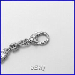 Judith Ripka Sterling Silver CZ Cubic Zirconia Rolling Bracelet 8