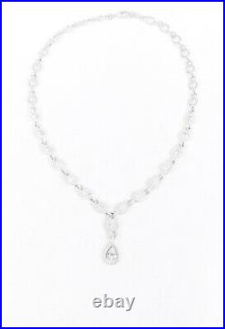 Judith Ripka Sterling Silver Cubic Zirconia Chain Pendant Necklace