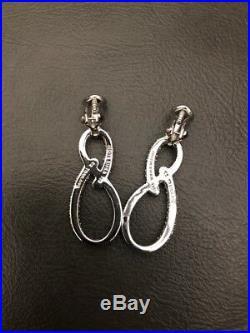 Judith Ripka Sterling Silver Cubic Zirconia Cz Earrings Infinity Figure 8 Rare