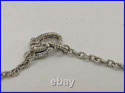 Judith Ripka Sterling Silver Cubic Zirconium By the Yard Necklace 18-20 Long