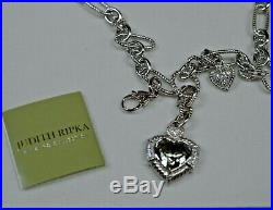 Judith Ripka Sterling Silver Green Heart Cubic Zirconia Necklace 18
