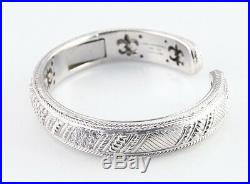 Judith Ripka Sterling Silver Hinged Cuff Bracelet Cubic Zirconia Great Condition