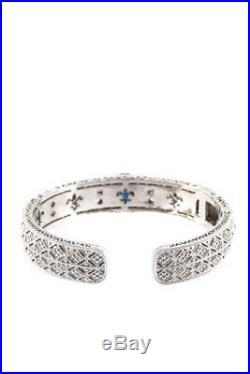 Judith Ripka Womens Bracelet One Size Sterling Silver Cuff Cubic Zirconia
