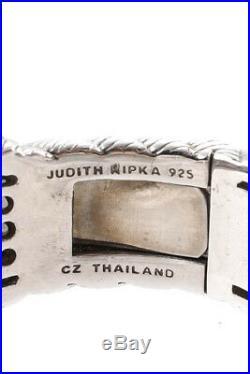 Judith Ripka Womens Bracelet Silver Sterling Cubic Zirconia Cuff