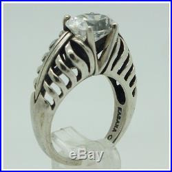 Kabana Sterling Silver 925 Oval Cubic Zirconia Ring Size 7.5