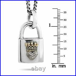King Baby 18K Yellow Gold and Sterling Silver White Cubic Zirconia Crowned He