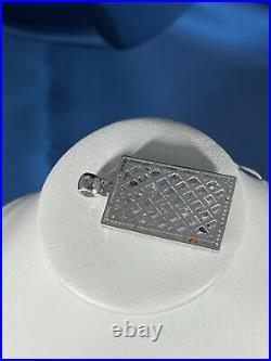 King Of Hearts 925 Sterling Silver Pendant Cubic Zirconia Stones Iced Out White