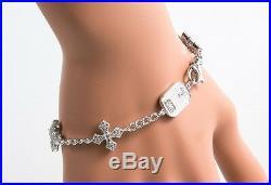 King Queen Baby Studio Cross 3D Pave Cubic Zirconia MB Cross Bracelet Q42-9167