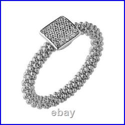 LINKS OF LONDON Ladies Stardust 925 Square Cubic Zirconia Ring N NEW RRP150