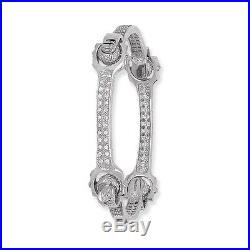 Ladies Sterling Silver Cubic Zirconia Spanner Style Bangle G2206