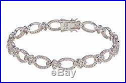 Leslie Greene Sterling Silver 3.24ctw Cubic ZirconiaAbigail Line Bracelet $299