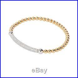 Links of London Yellow Gold Plate & Cubic Zirconia Cleo Bar Bracelet