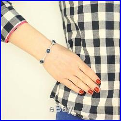 London Blue Topaz & Cubic Zirconia Judith Ripka Cuff Bracelet 6 Sterling Silver