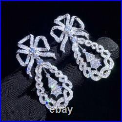 Luxury! Inspired Cubic Zirconia Earrings, Bow Earrings, S925 Sterling Silver