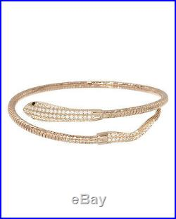 Made in Italy Snake Bracelet With Cubic zirconia 925 Sterling silver 6.5in