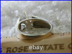 Marquise Cubic Zirconia 0.925 Sterling Silver Estate Solitaire Ring size 10