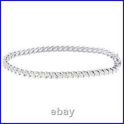 Marquise Cut Cubic Zirconia Tennis Bracelet 14K White Gold Over
