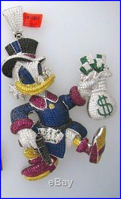 Mcduck Customized 925 Sterling Silver Cubic Zirconia Pendant Free Shipping