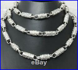 Men's STERLING SILVER Chain Cubic Zirconia 30 UNUSUAL 5mm Bling HEAVY HMK 67.5g